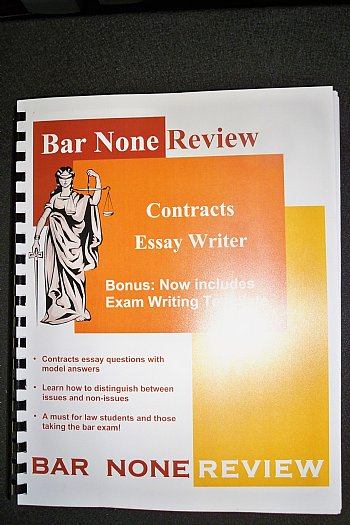 bar exam contracts essay Model answers the state bar of nevada offers model answers from the past bar exams for applicants to review and use as a study tool the model answers consist of essay answers from previous nevada bar applicants.