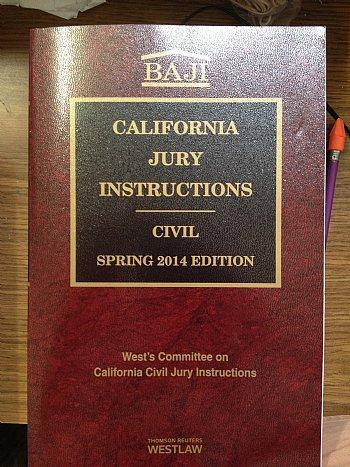 Baji California Jury Instructions Civil Spring 2014 Edition